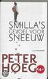 Cover of Smilla's gevoel voor sneeuw