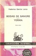 Cover of Bodas de sangre. Yerma