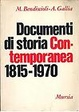 Cover of Documenti di storia contemporanea 1815-1970