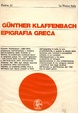 Cover of Epigrafia greca