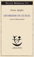 Cover of Aforismi di Zürau