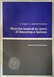 Cover of Ricerche lessicali su opere di Descartes e Spinoza