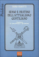 Cover of Senso e destino dell'attualismo gentiliano