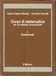 Cover of Corso di matematica per le scienze economiche / Fondamenti