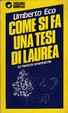 Cover of Come si fa una tesi di laurea