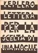 Cover of Lettera per la scelta di una moglie
