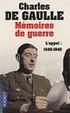 Cover of Mémoires de guerre