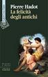 Cover of La felicità degli antichi