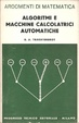 Cover of Algoritmi e macchine calcolatrici automatiche