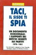 Cover of Taci, il Sisde ti spia