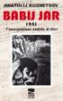 Cover of Babij Jar 1941 l'occupazione nazista di Kiev