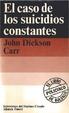 Cover of El caso de los suicidos constantes