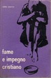 Cover of Fame e impegno cristiano