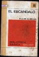 Cover of El escandalo, novela