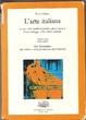 Cover of L'arte italiana