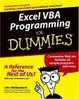Cover of Excel VBA Programming For Dummies