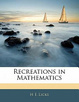 Cover of Recreations in Mathematics
