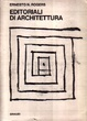 Cover of Editoriali di architettura