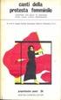 Cover of Canti della protesta femminile