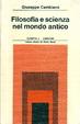 Cover of Filosofia e scienza nel mondo antico