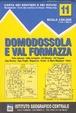 Cover of Domodossola e val Formazza 1:50.000. Carta dei sentieri e dei rifugi