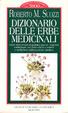 Cover of Dizionario delle erbe medicinali