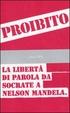 Cover of Proibito! La libertà di parola da Socrate a Nelson Mandela
