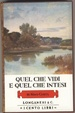Cover of Quel che vidi e quel che intesi