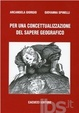 Cover of Per una concettualizzazione del sapere geografico