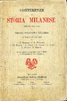 Cover of Conferenze di storia milanese