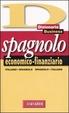 Cover of Dizionario spagnolo economico-finanziario