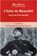 Cover of L'Italie de Mussolini
