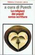 Cover of Le religioni dei popoli senza scrittura
