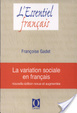 Cover of La variation sociale en français