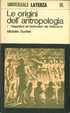 Cover of Le origini dell'antropologia