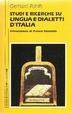 Cover of Studi e ricerche su lingua e dialetti d'Italia