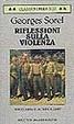 Cover of Riflessioni sulla violenza