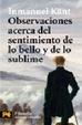 Cover of Observaciones acerca del sentimiento de lo bello y de lo sublime