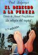 Cover of El Derecho a la Pereza