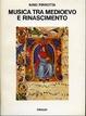 Cover of Musica tra Medioevo e Rinascimento