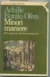 Cover of Minori maniere, dal Cinquecento alla transavanguardia
