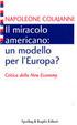 Cover of Il miracolo americano: un modello per l'Europa? Critica della new economy