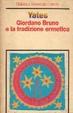 Cover of Giordano Bruno e la tradizione ermetica