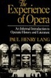 Cover of The Experience of Opera