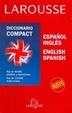 Cover of Larousse Diccionario Compact Espanol