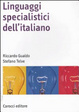 Cover of Linguaggi specialistici dell'italiano