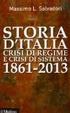 Cover of Storia d'Italia, crisi di regime e crisi di sistema 1861-2013