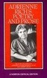 Cover of Adrienne Rich's Poetry and Prose