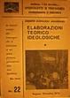Cover of Elaborazioni teorico ideologiche