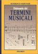 Cover of Dizionario dei termini musicali
